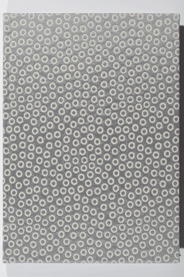 Notizbuch handgemacht <br>grey bubbles